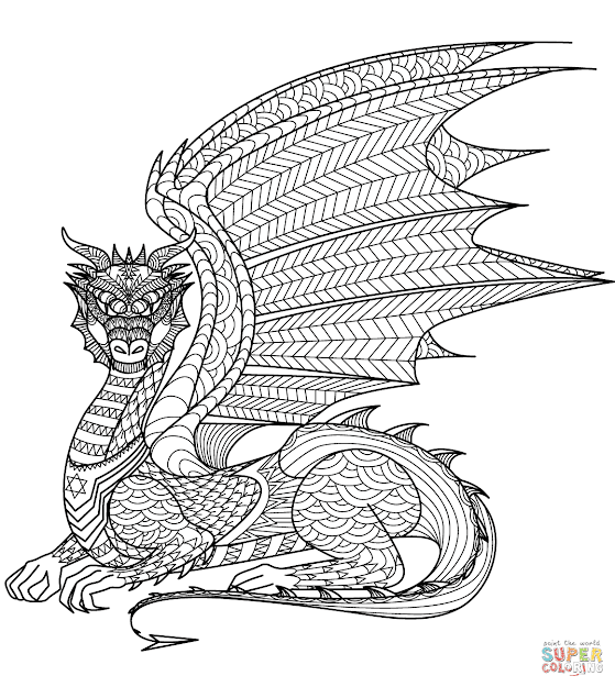 Dragon Zentangle  Super Coloring  If Youre In The Market For