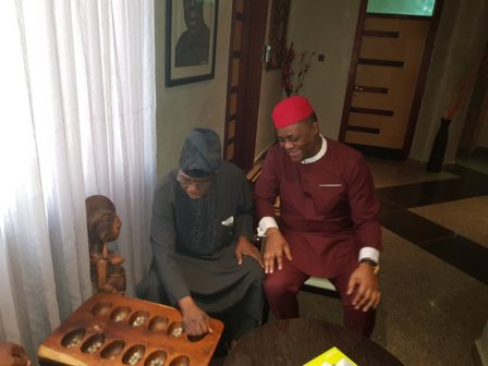 Fani-Kayode Visits Former President Obasanjo At Home