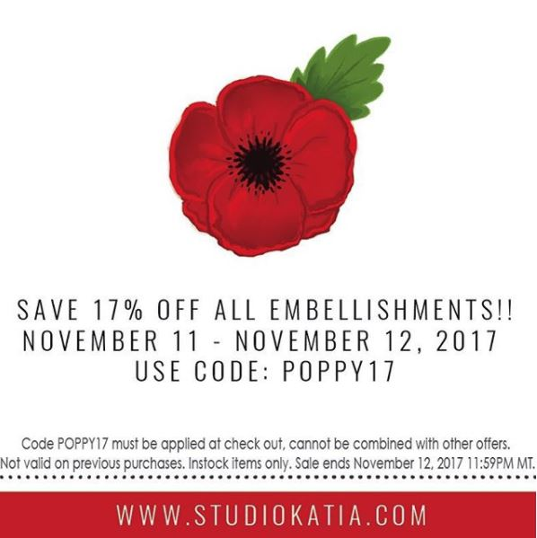 Remembrance day sale | STUDIO KATIA