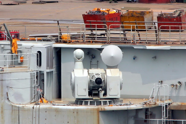 Type 1030 close-in weapon system, two of which are installed on the Liaoning