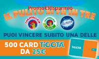 Logo Concorso ''Il pulito si fa in tre'': vinci 500 card Tigotà da 25€