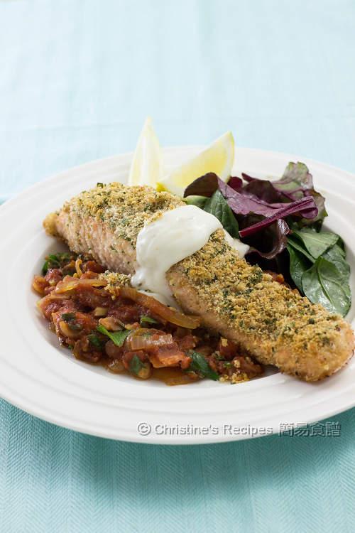 焗香草脆皮三文魚 【健康簡易】Baked Salmon with Herb Crust | 簡易食譜 - 基絲汀: 中西各式家常菜譜