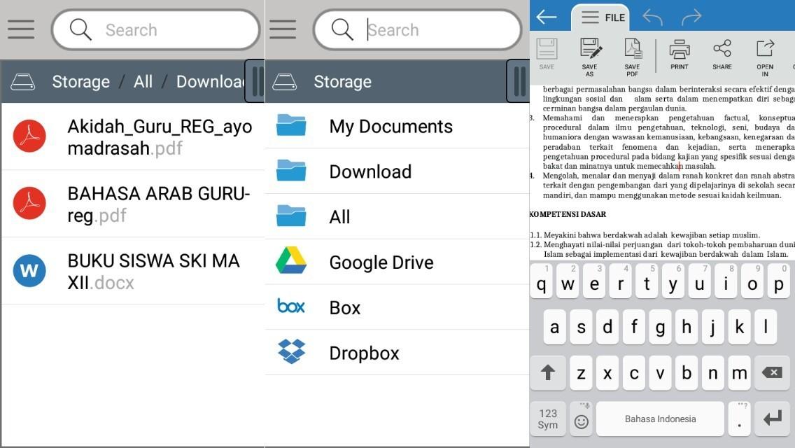 cara membuka file office di android