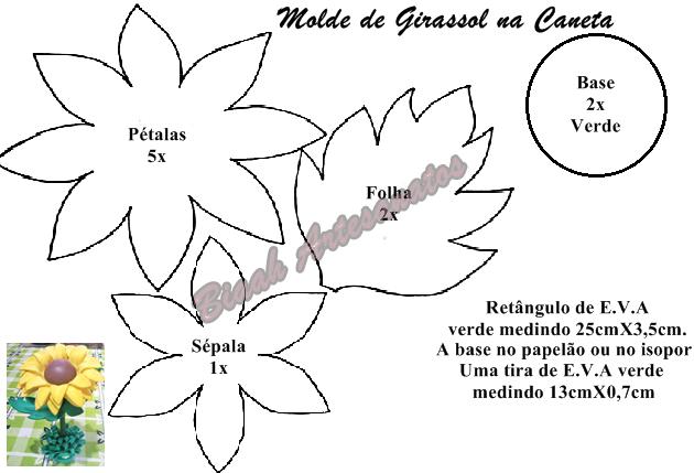 Muitas vezes Biaah Artesanatos: Girassol sem Frisador na Caneta JD83
