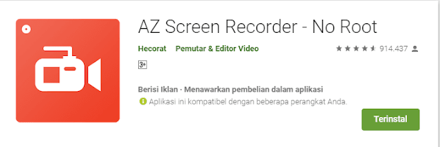 Download Aplikasi AZ Screen Recorder Android Gratis