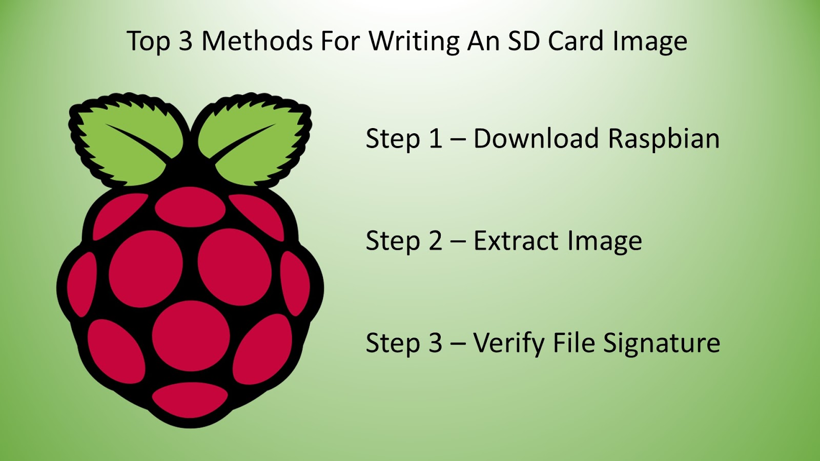 Raspberry Pi 3 Model B+ - SD Card - Top 3 Methods To Write