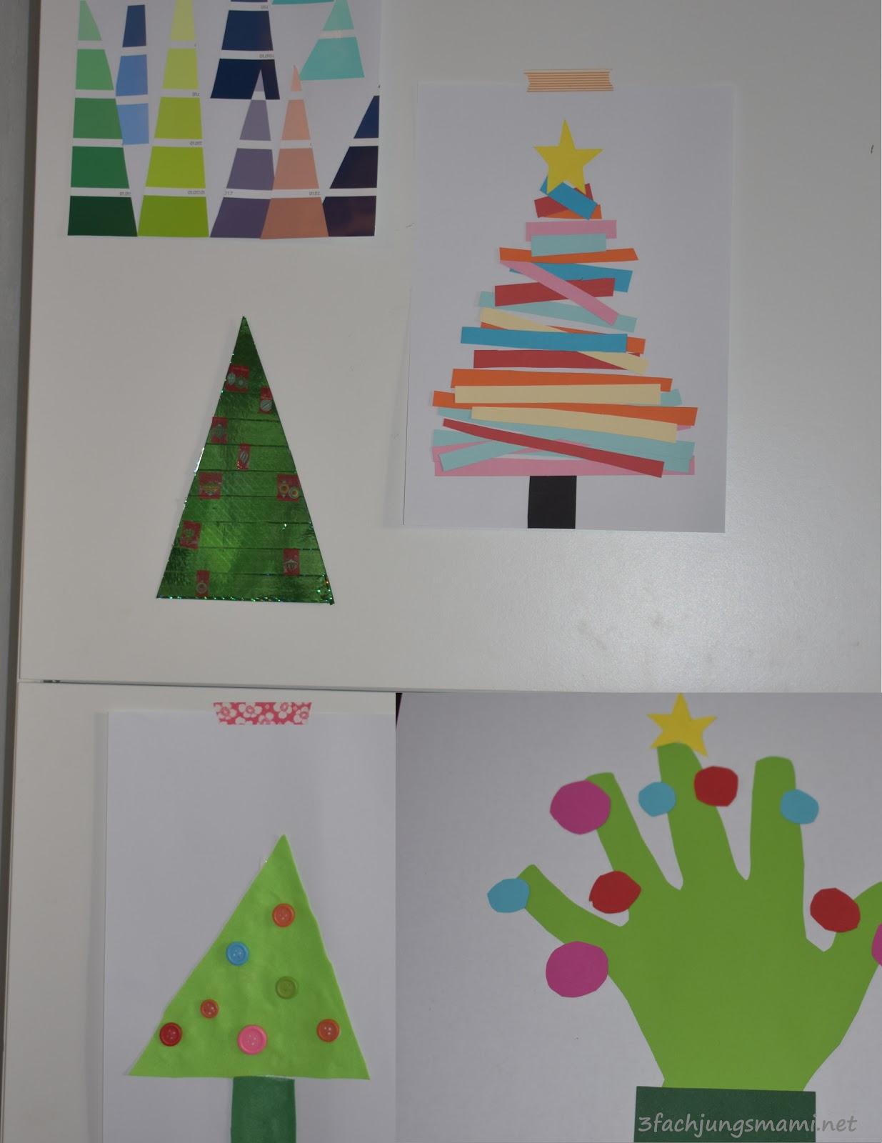 5 Tolle Ideen Um Weihnachtsbaume Mit Kindern Zu Basteln