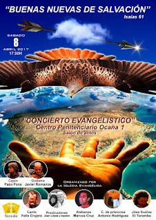 Cartel del Concierto Evangélico en el que participará Félix Crujera el Sevillano