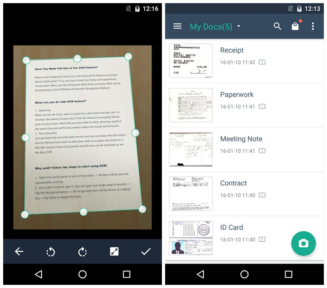 Camscanner phone pdf creator apk download for android.
