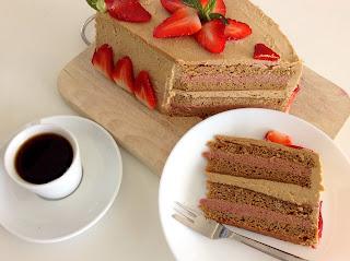 Jahodovo-vanilkový dort