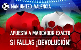 sportium promocion champions United vs Valencia 2 octubre