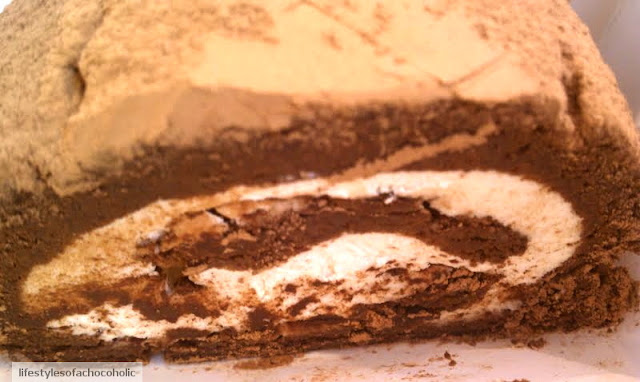 close up of chocolate roll from joans on third
