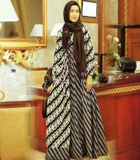 contoh baju batik muslim modern