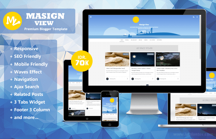 Masign View - Responsive Blogger Template