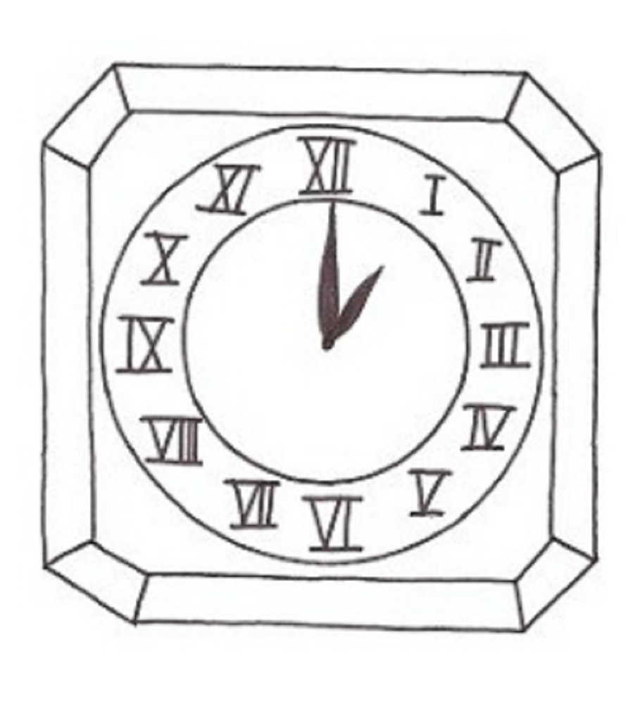 digital clock coloring pages - photo #11