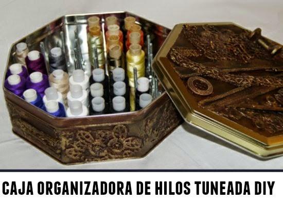 Como hacer una Caja para Organizar Hilos