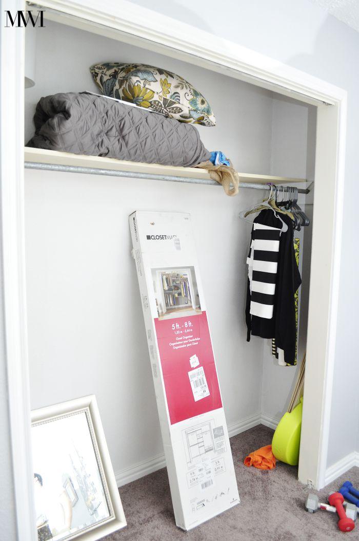 Before closet guest room