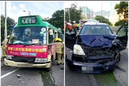 Tabrakan Minibus dan Mobil Pribadi, 12 Orang Terluka