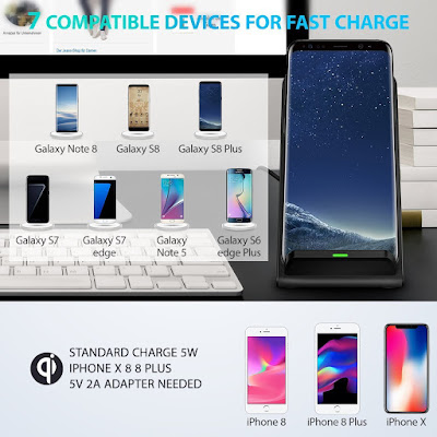 10w Fast wireless charging stand for Samsung devices