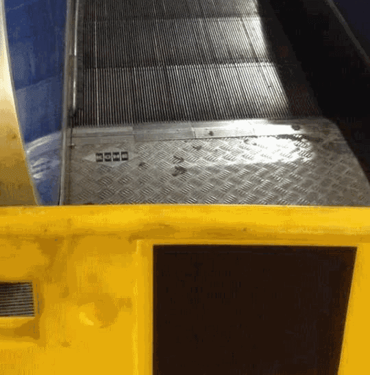 La penosa situazione delle scale mobili sulla Roma-Lido