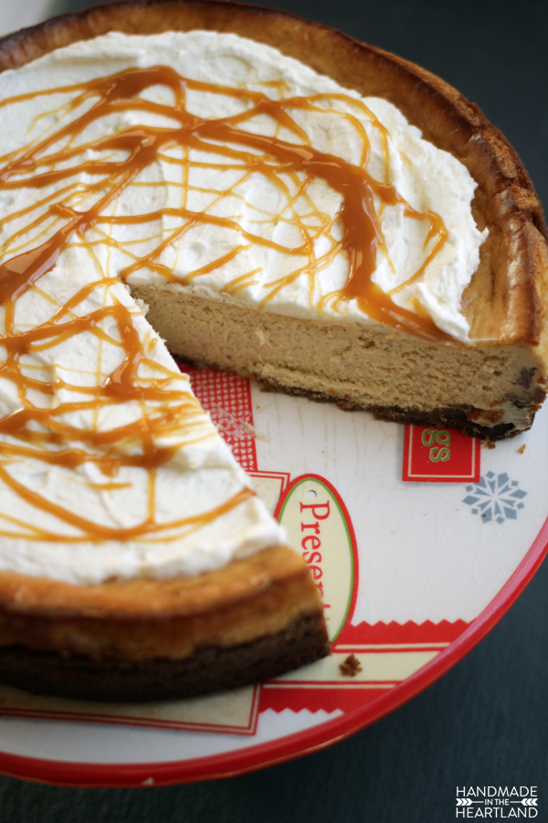 Present your holiday guest with eggnog in their cheesecake.
