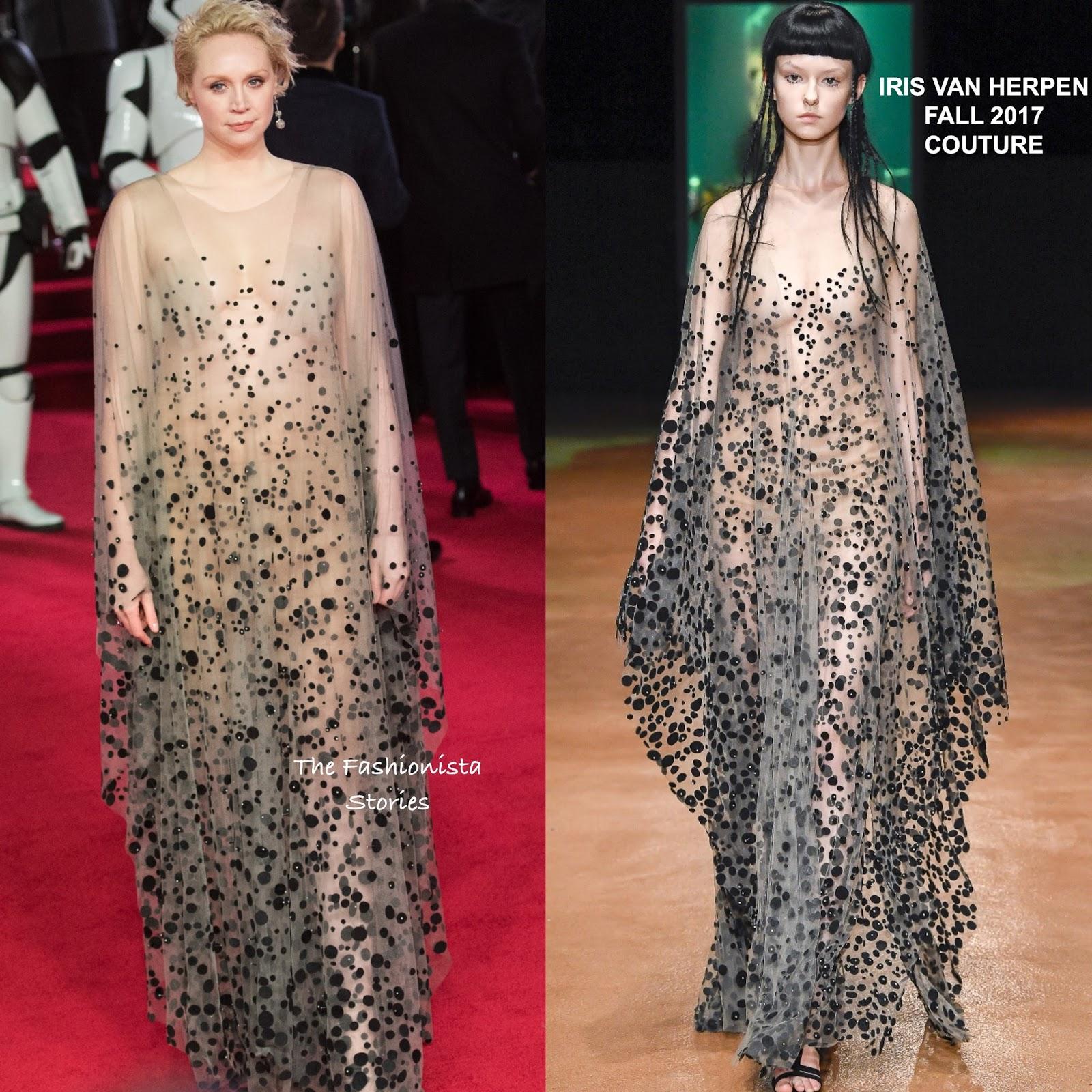 Gwendoline Christie Nude Pictures with gwendoline christie in iris van herpen couture at the 'star wars