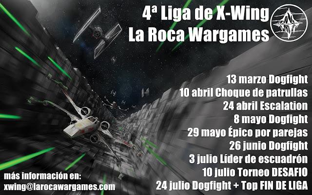 4a liga de X-Wing La Roca Wargames