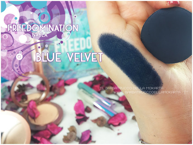 blue velvet swatches nabla cosmetics freedomination collection summer eyeshadow