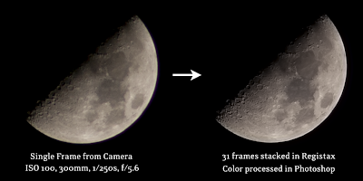 moon before and after registax