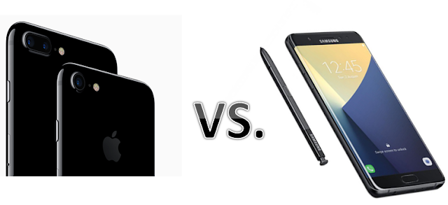 Samsung Galaxy Note 7 vs. Apple iPhone 7, which one Better?