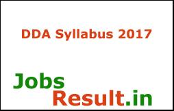 DDA Syllabus 2017