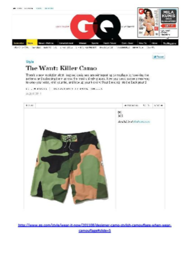 de6dccfde8 DC Public Relations: GQ posts DC Men's Cargo Shorts