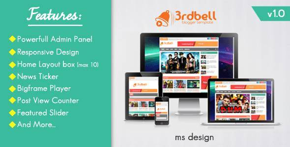 3rdbell - Responsive Video Blogger Template - Video Blogging
