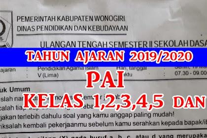 Download Soal PTS/UTS PAI Semester 2 Kelas 1,2,3,4,5, dan 6 Kurikulum 2013 LENGKAP Tahun Ajaran 2019/2020
