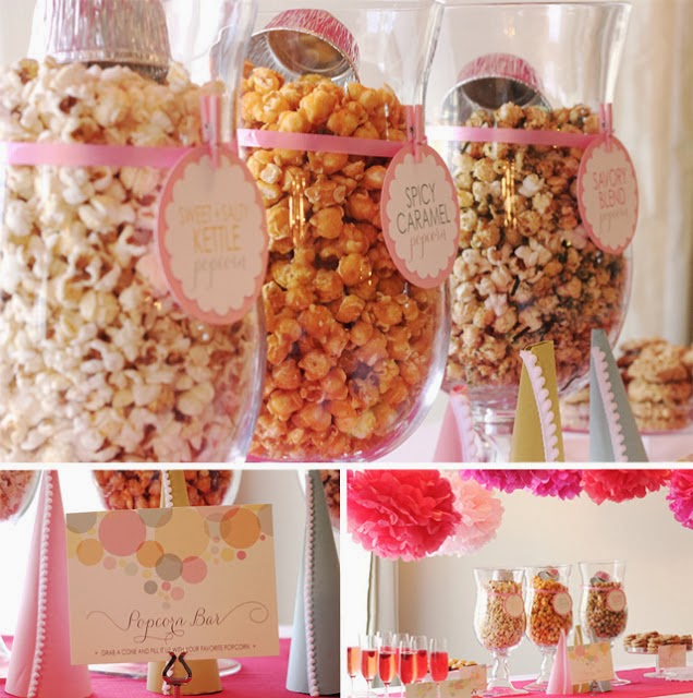 popcorn buffet o candy bar