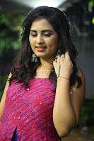 Srushti in beautiful Pink Sleeveless Dress Cute Actress Dimples ~  Exclusive 009.JPG