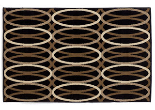 Repeating pattern area rug