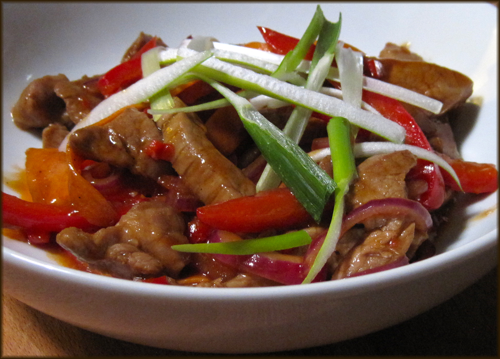 Pork Stir-fry with Hoisin and Orange Sauce
