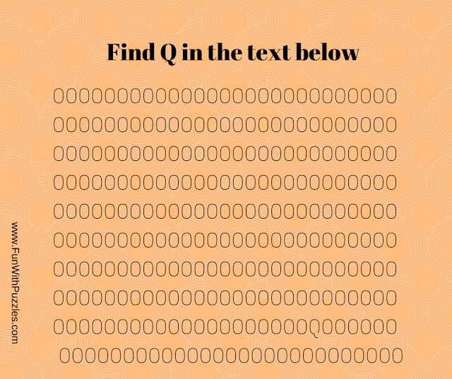Brain Teaser to find Q in given pattern of Os