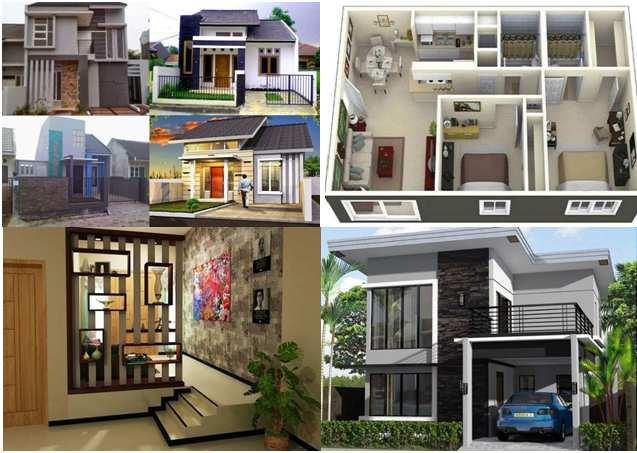 Model batu alam rumah minimalis type 45