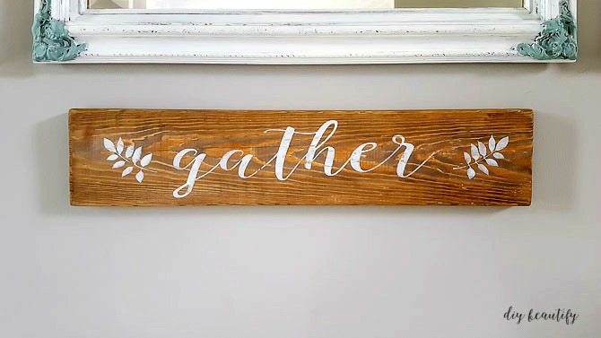 Instructions for making a DIY farmhouse sign including a free printable. Get it at diy beautify!