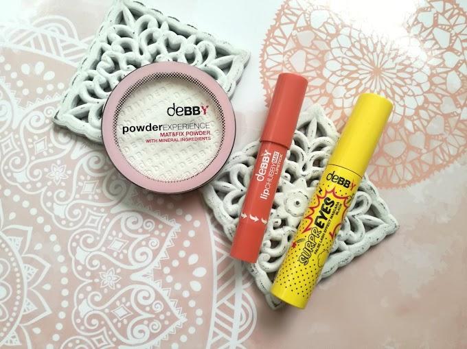 Makijaż z marką DEBBY | mascara, matujący puder, matowa pomadka w kredce
