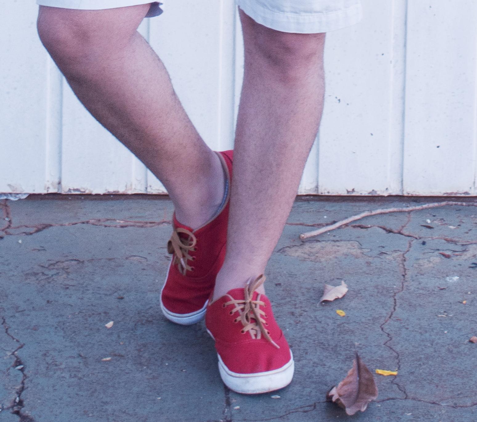 tênis masculino vermelho