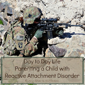 Day to day life parenting a child with Reactive Attachment Disorder.