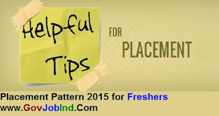 Placement Pattern 2015 for Freshers in IT Companies in India