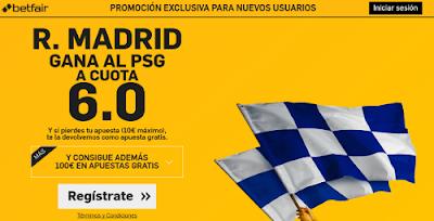 betfair Real Madrid gana PSG supercuota 6 Amistoso 28 julio