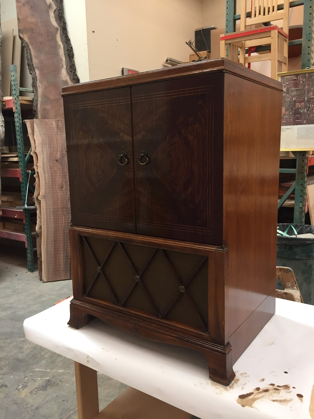Lets Talk Wood A Quick Follow Up On The Old Rca Console Tv Cabinet