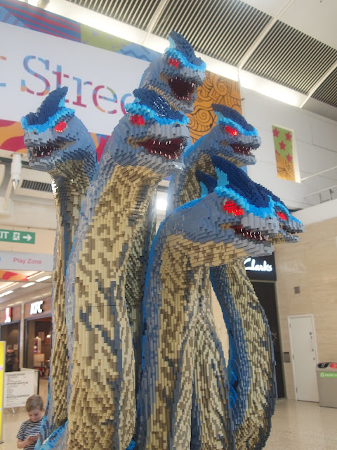 The six headed Hydra - Bright Bricks Mythical Beasts LEGO brick trail at The Mall, Luton
