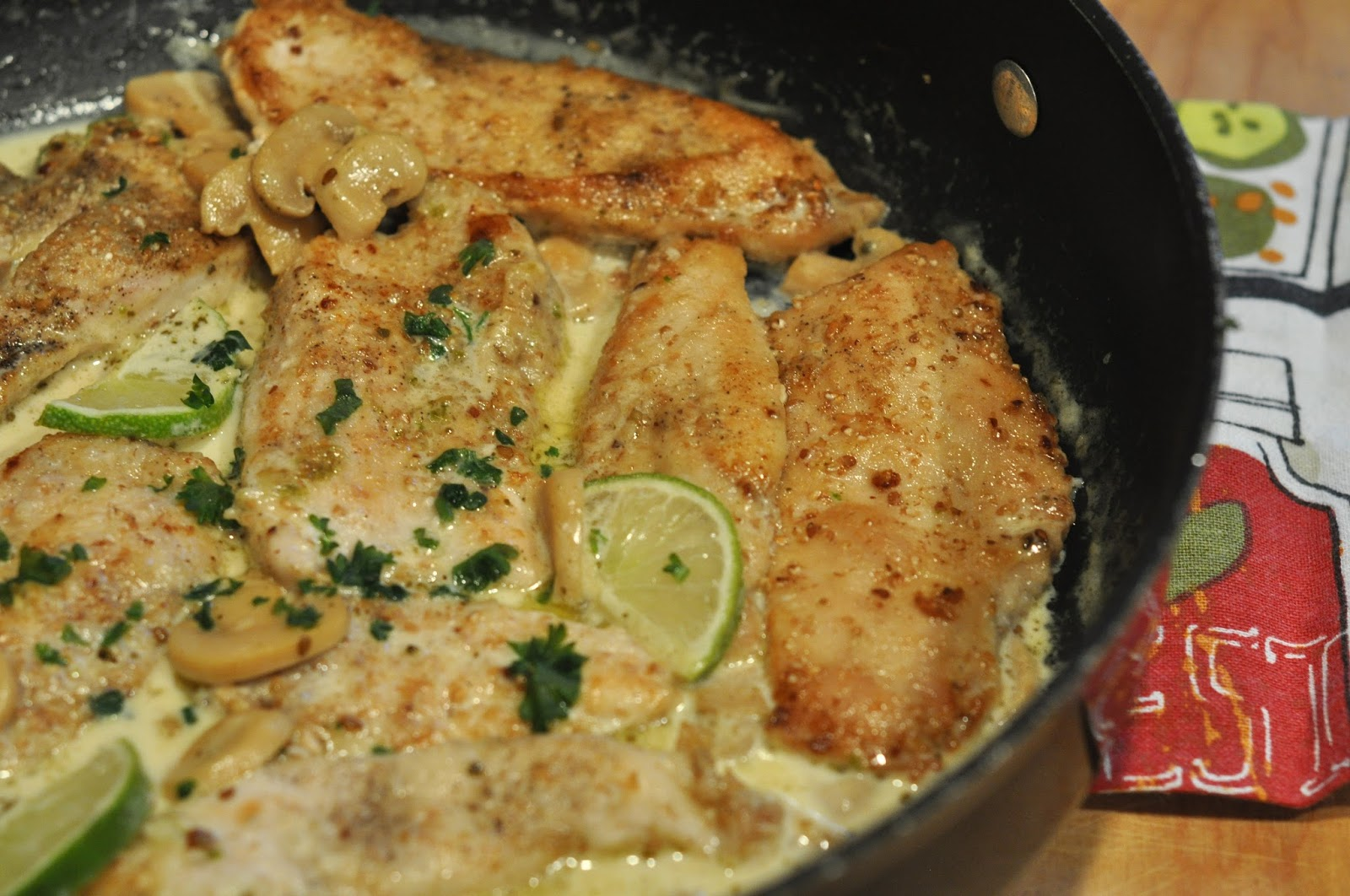 Mennonite Girls Can Cook Creamy Chicken Piccata With Mushrooms