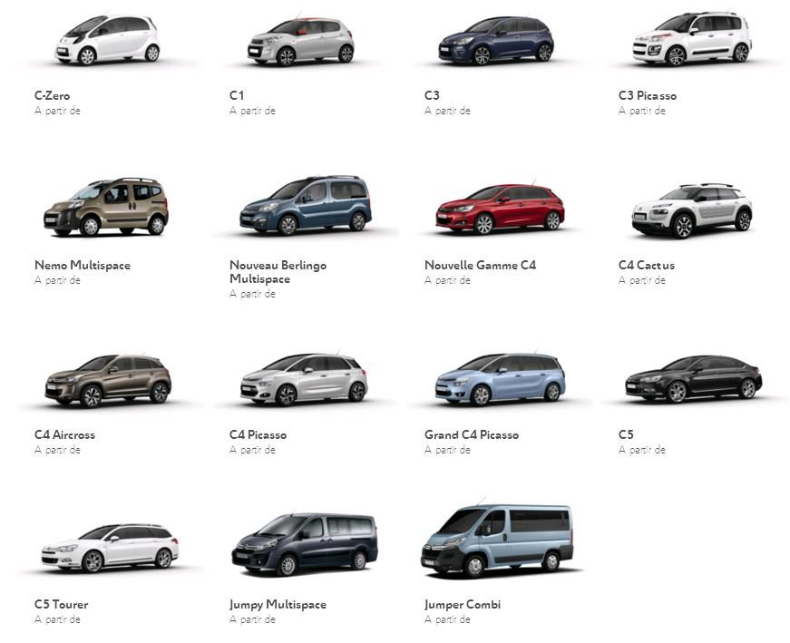 Các dòng xe Citroen & mẫu xe Citroen từ trước đến nay